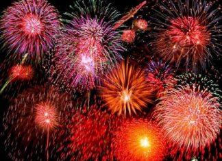fireworks display in Tampa Bay