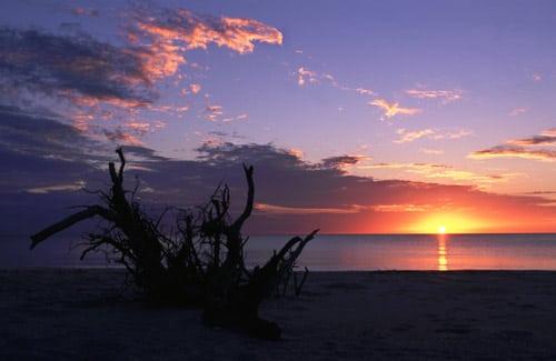 Sunset at Stump Pass Beach State Park