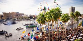 Gasparilla Pirate Invasion in Tampa