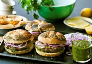 Argentinian Beef Burgers with Chimichurri