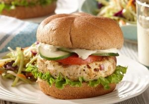 Greek Chicken Burger recipe