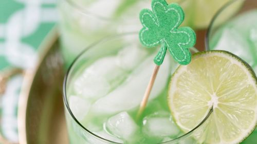St. Patrick's Day cocktail Shamrock Sour Cocktail