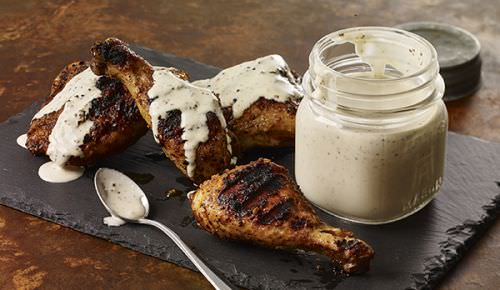 White BBQ Sauce with Smoky Chicken