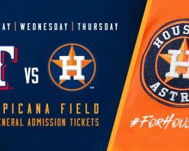 Tropicana Field to Host Texas Rangers vs. Houston Astros Series
