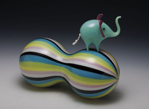 new glass art work by Claire Kelly