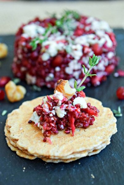 Blue Cheese, Pomegranate and Quinoa Caviar