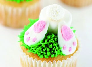 Metro Foodie feature with bunny cupcakes